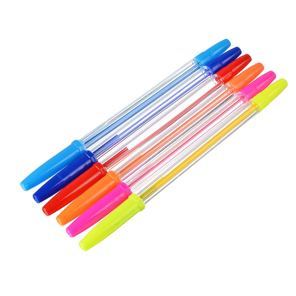 Гламур кэтс Набор ручек шариковых, 6 цветов, 0,7 мм, в ПВХ пенале с подвесом