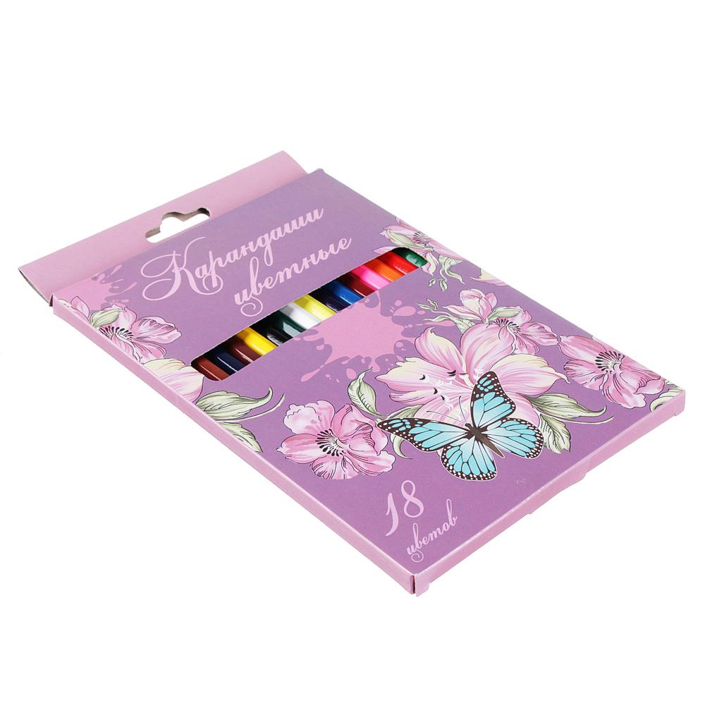 Карандаши Волшебный полет 18 цветов, шестигранные заточенные