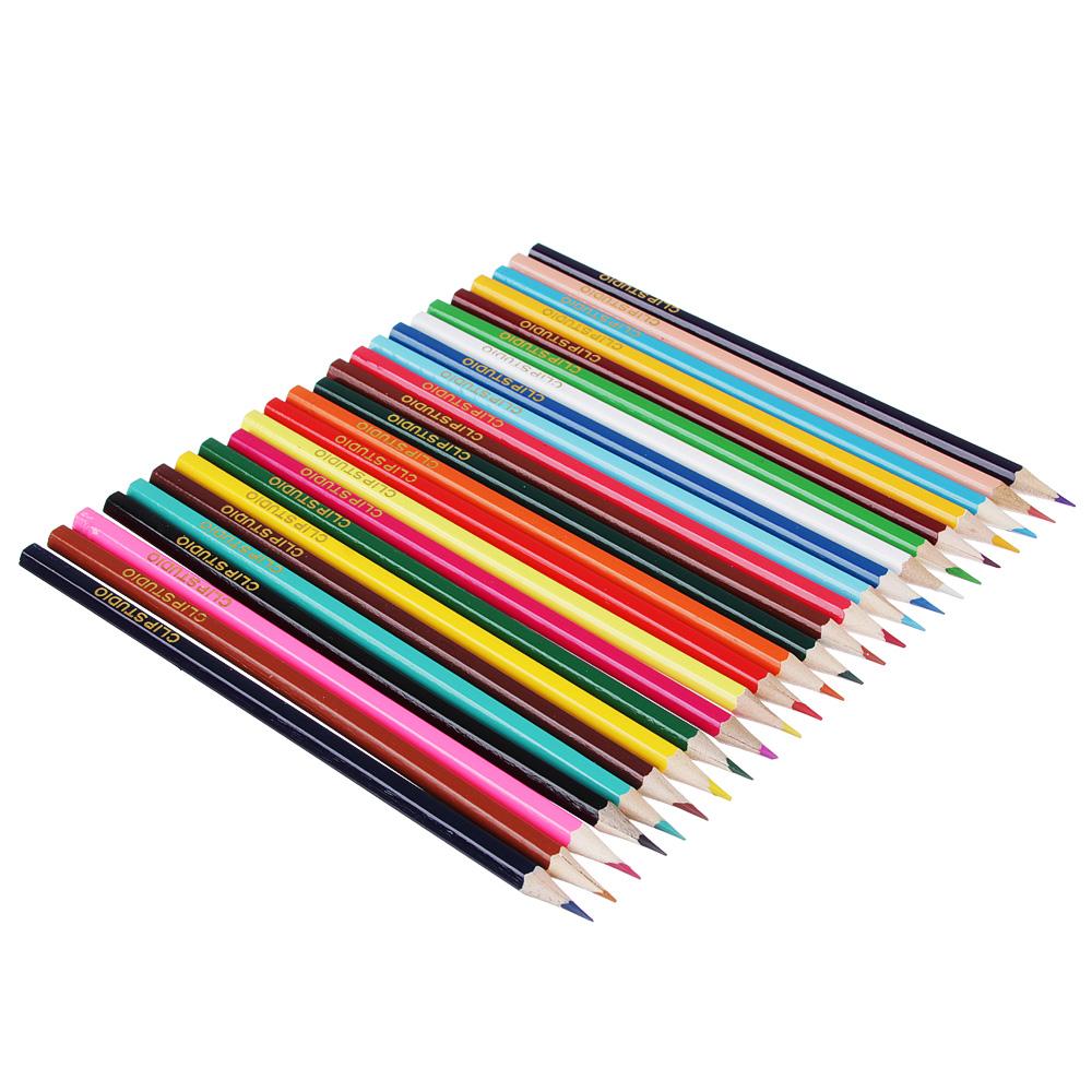 Карандаши Джуниор гардент 24 цвета, шестигранные заточенные