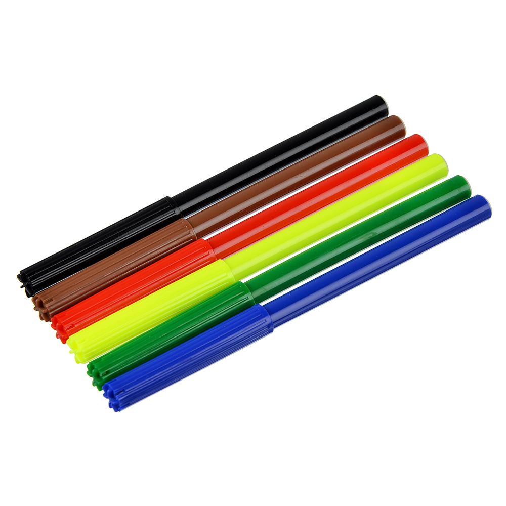Фломастеры Волшебный полет с цветным вентилируемым колпачком, 6 цветов