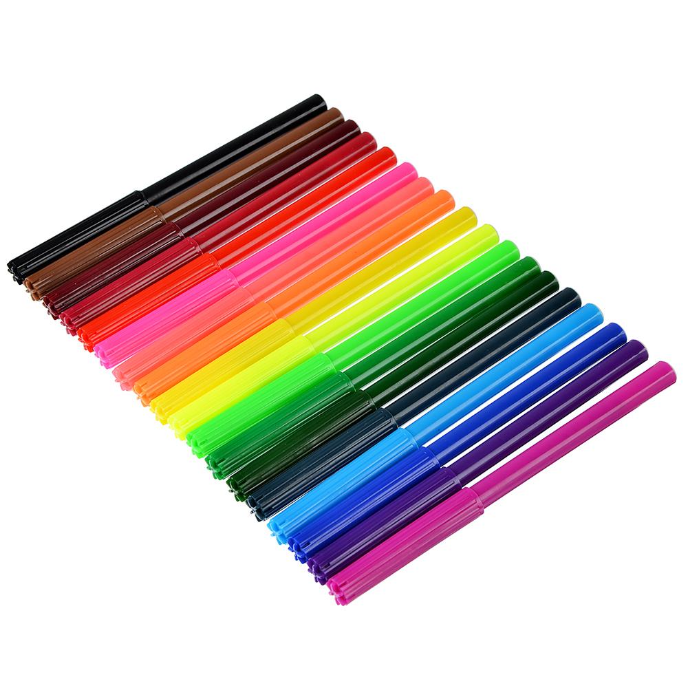 Найт хоук Фломастеры, 18 цветов, с цветным вентилируемым колпачком, в ПВХ пенале с подвесом