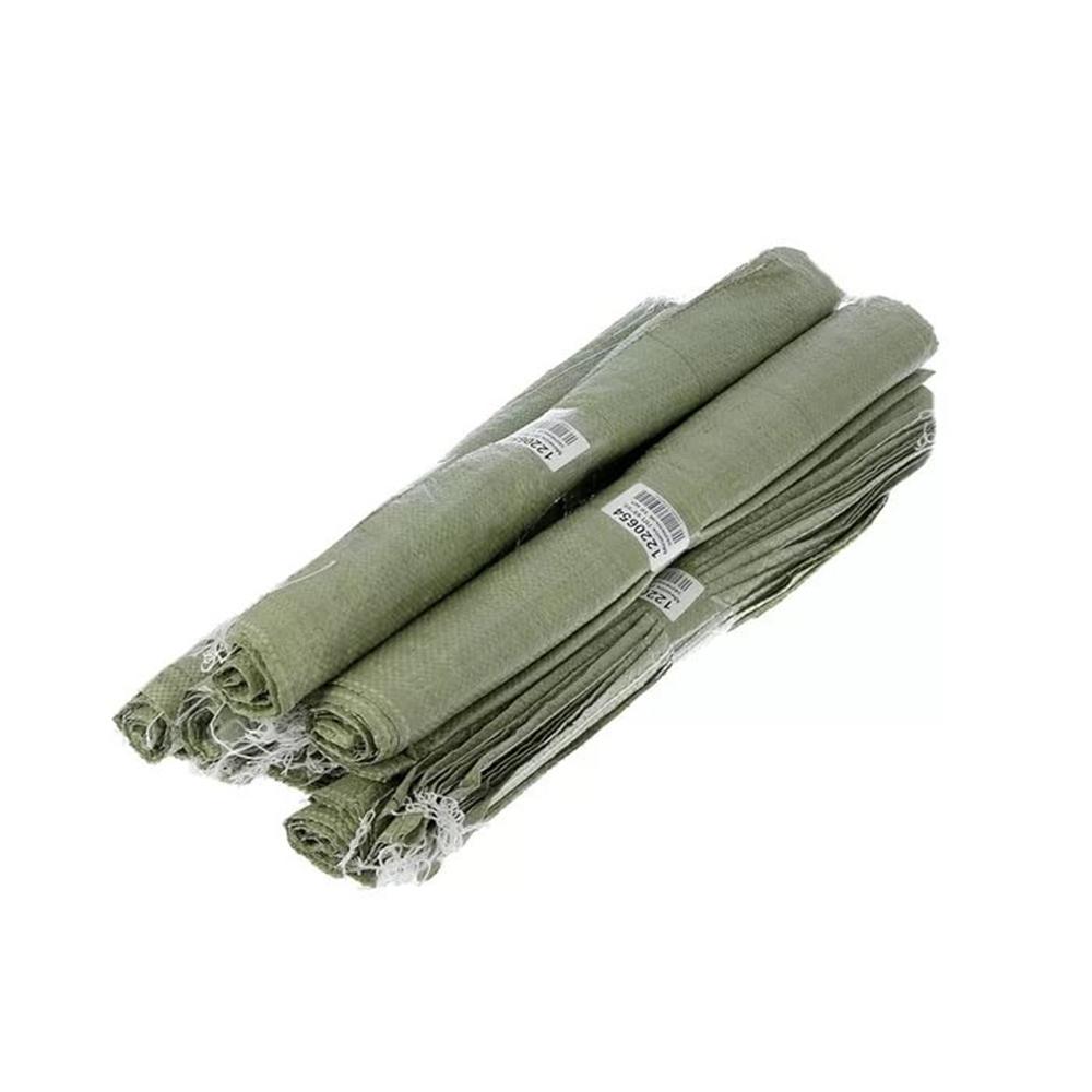 Мешок для строительного мусора полипропиленовый, зеленый, 95х55см, рулон 10 шт