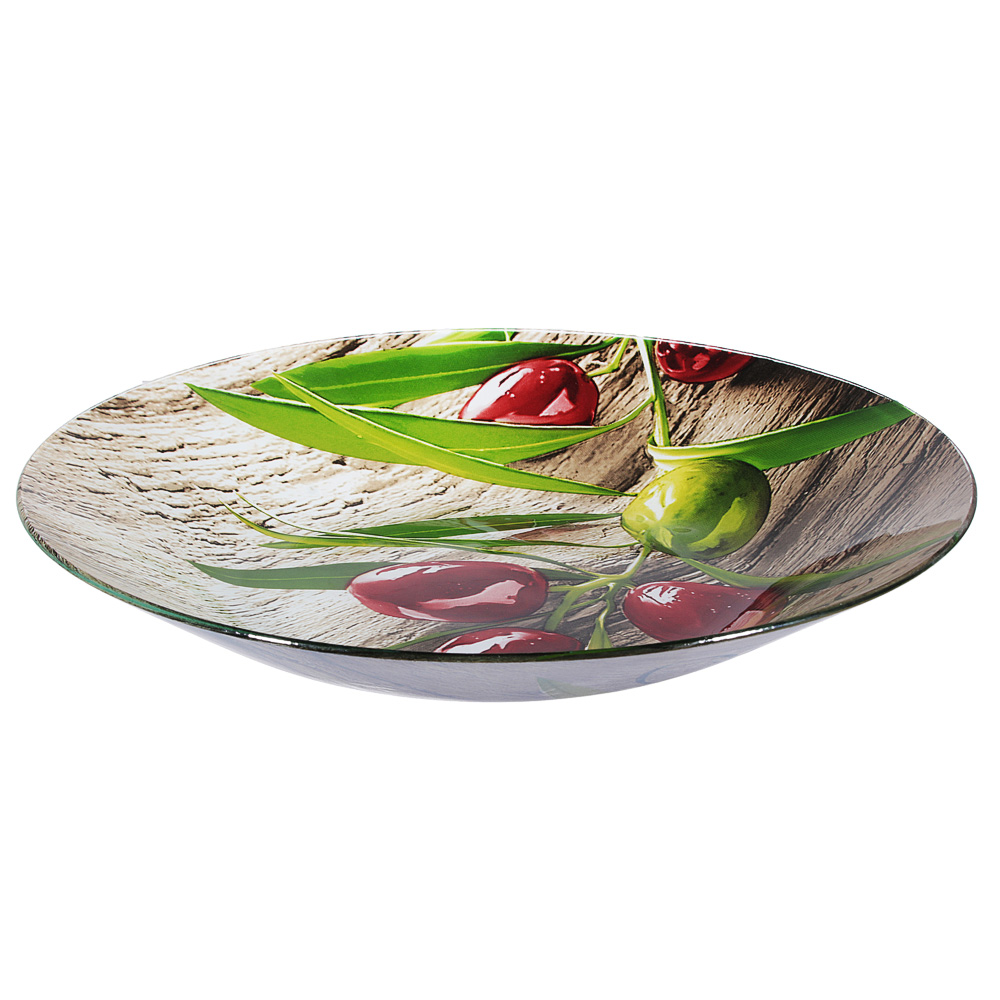 Оливки Салатник большой , стекло, 33см