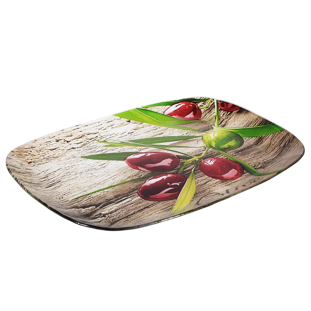 Оливки Блюдо прямоугольное, стекло, 34,2х23,2см