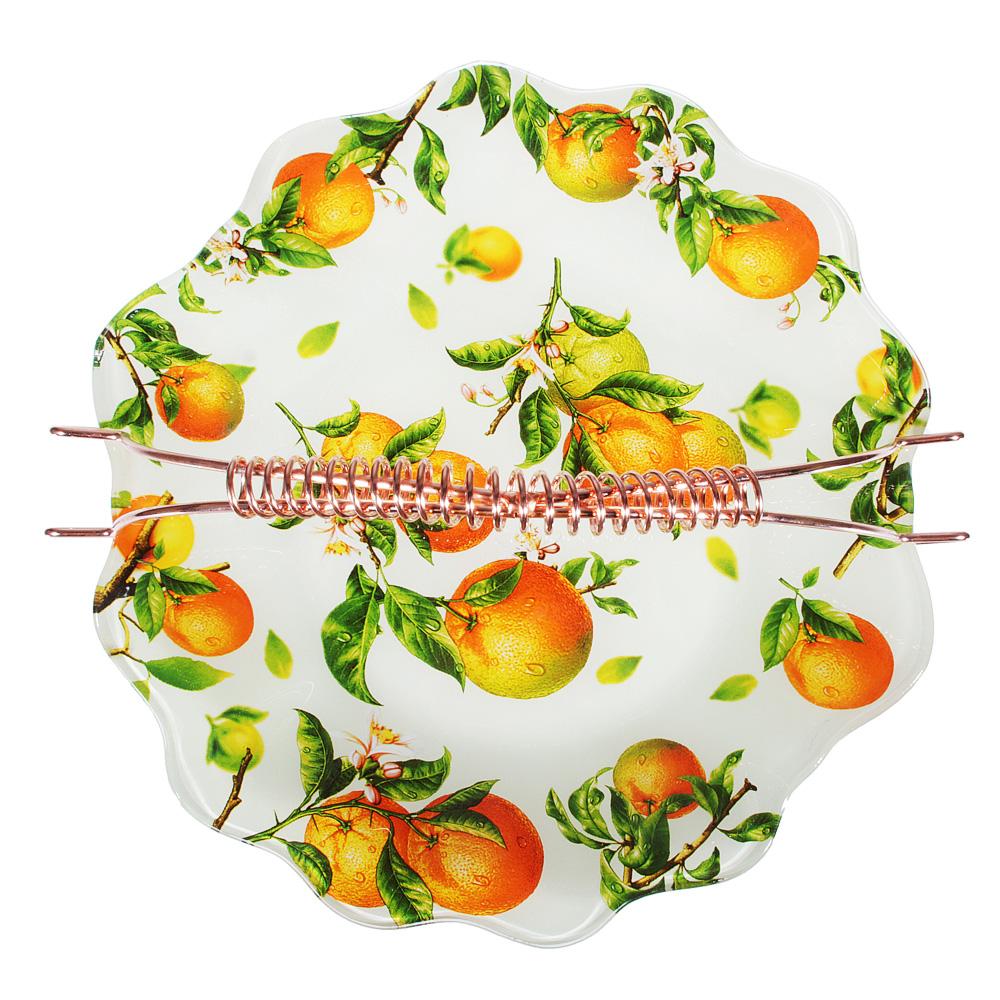 Апельсины Ваза для фруктов, стекло, 25х26см