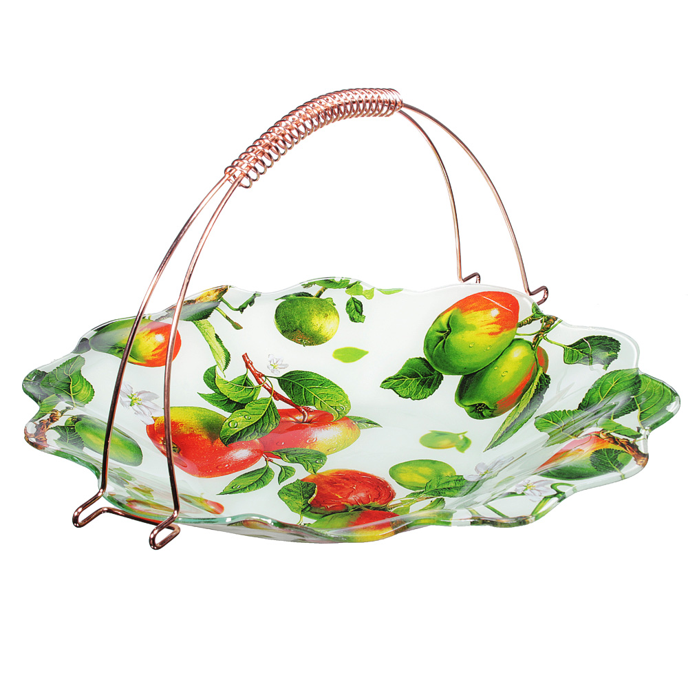 Яблоки  Ваза для фруктов, стекло, 36х31см