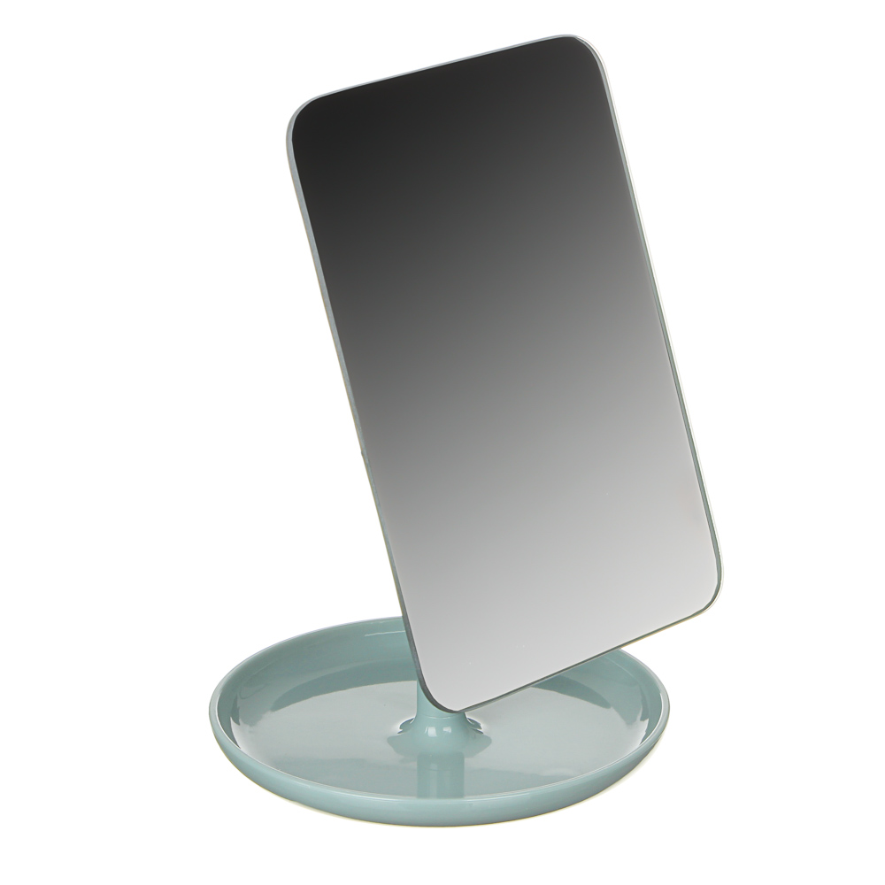 Зеркало настольное, 12,5х26,5см, пластик, стекло, 4 цвета, 1862