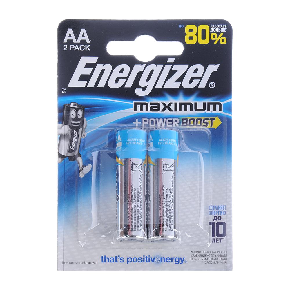 Батарейка алкалиновая Energizer Maximum Power Boost, АА LR6/316, 2шт