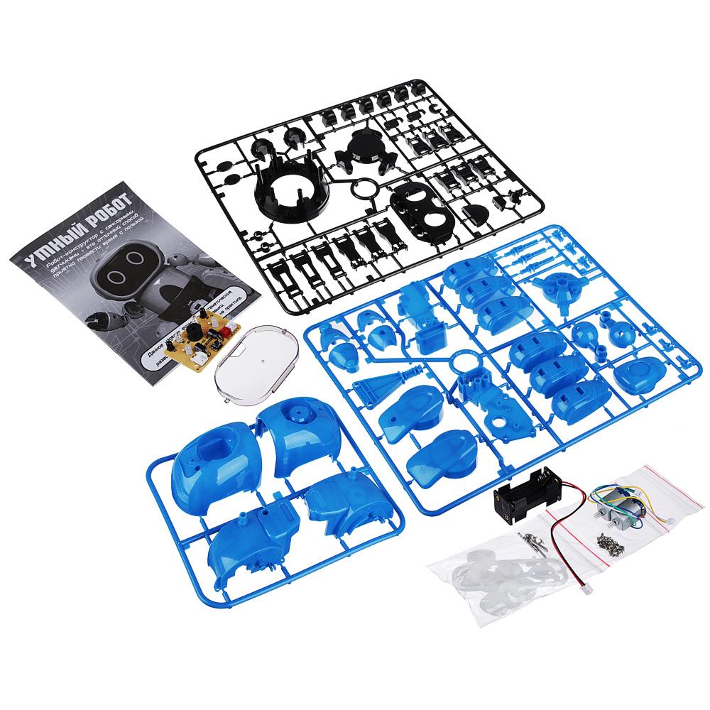 ИГРОЛЕНД Конструктор в виде робота с сенсорными датчиками, пластик, пит.4х1.5VAAA,16х12х12см