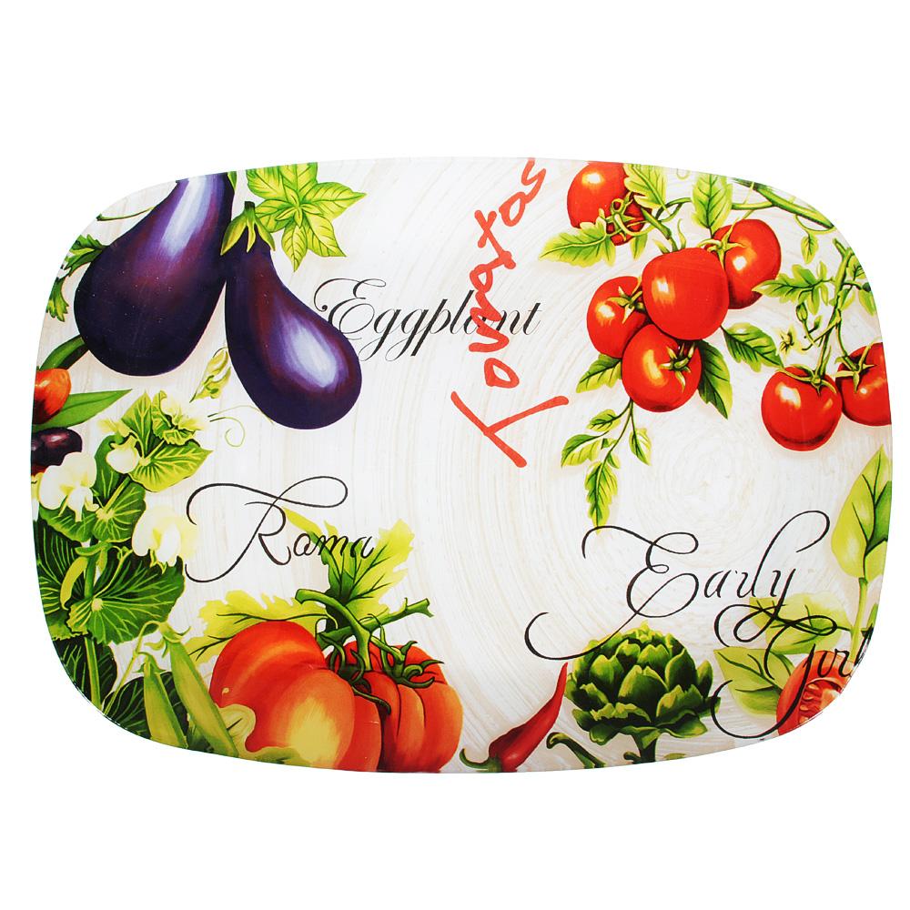 Урожай Блюдо прямоугольное, стекло, 35х25см