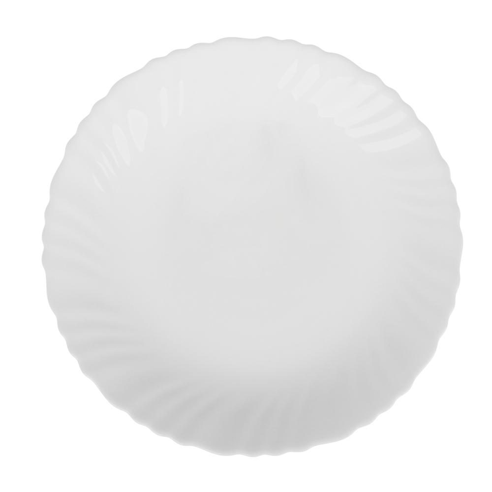 "Тарелка десертная d.19 см, опаловое стекло, MILLIMI ""Бьянко"""