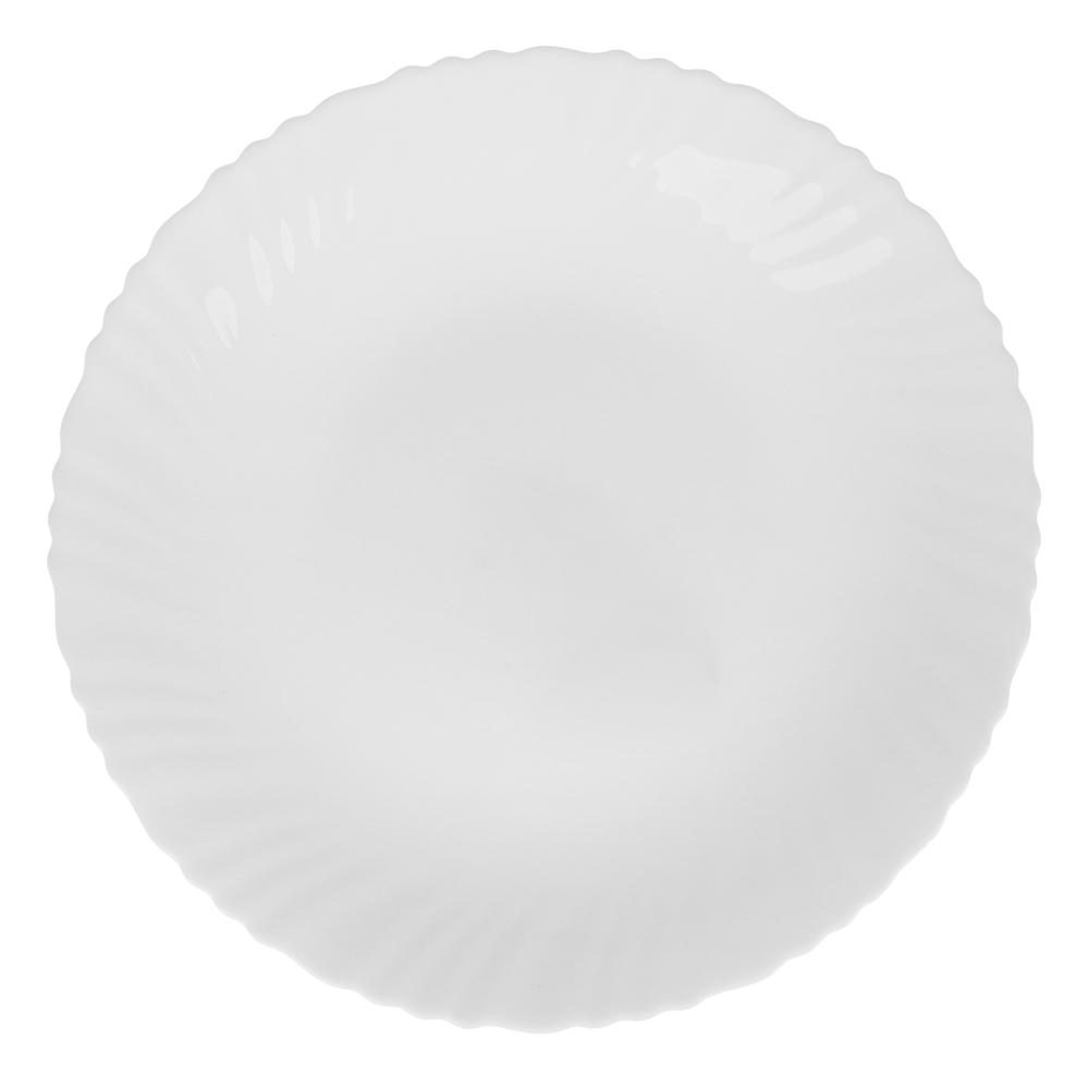 """Тарелка подстановочная d.24 см, опаловое стекло, MILLIMI """"Бьянко"""""""