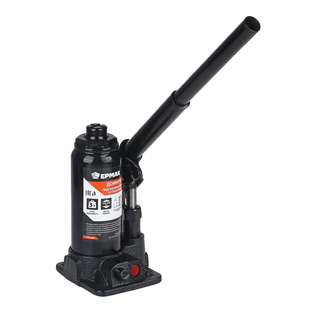 FALCO Домкрат гидравлический бутылочный 3 т, в кейсе высота подъема 158-308мм