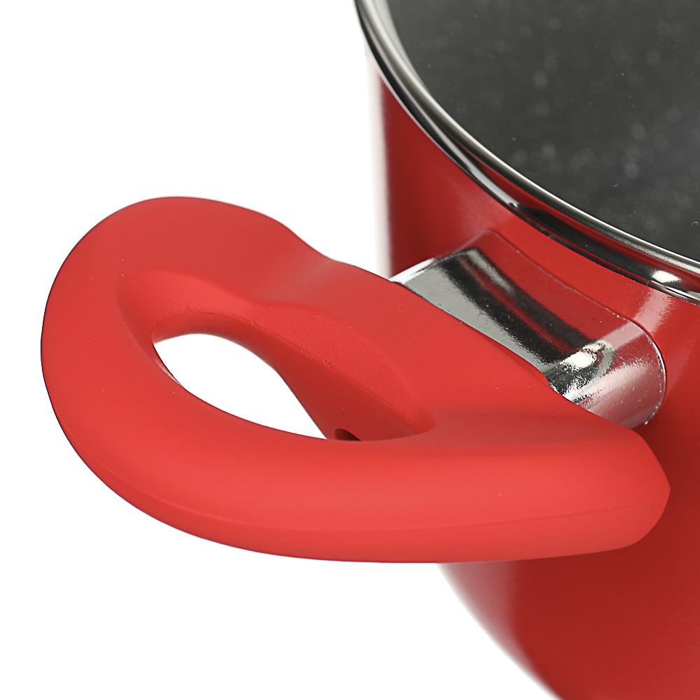 Набор кухонной посуды SATOSHI, 5 предметов, индукция, антипригарное покрытие мрамор