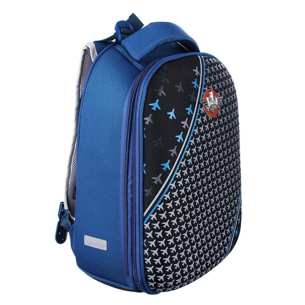 Рюкзак школьный Энджин 38x30x18 см, 2 отделения, эргономичная спинка, лямки регулируемые