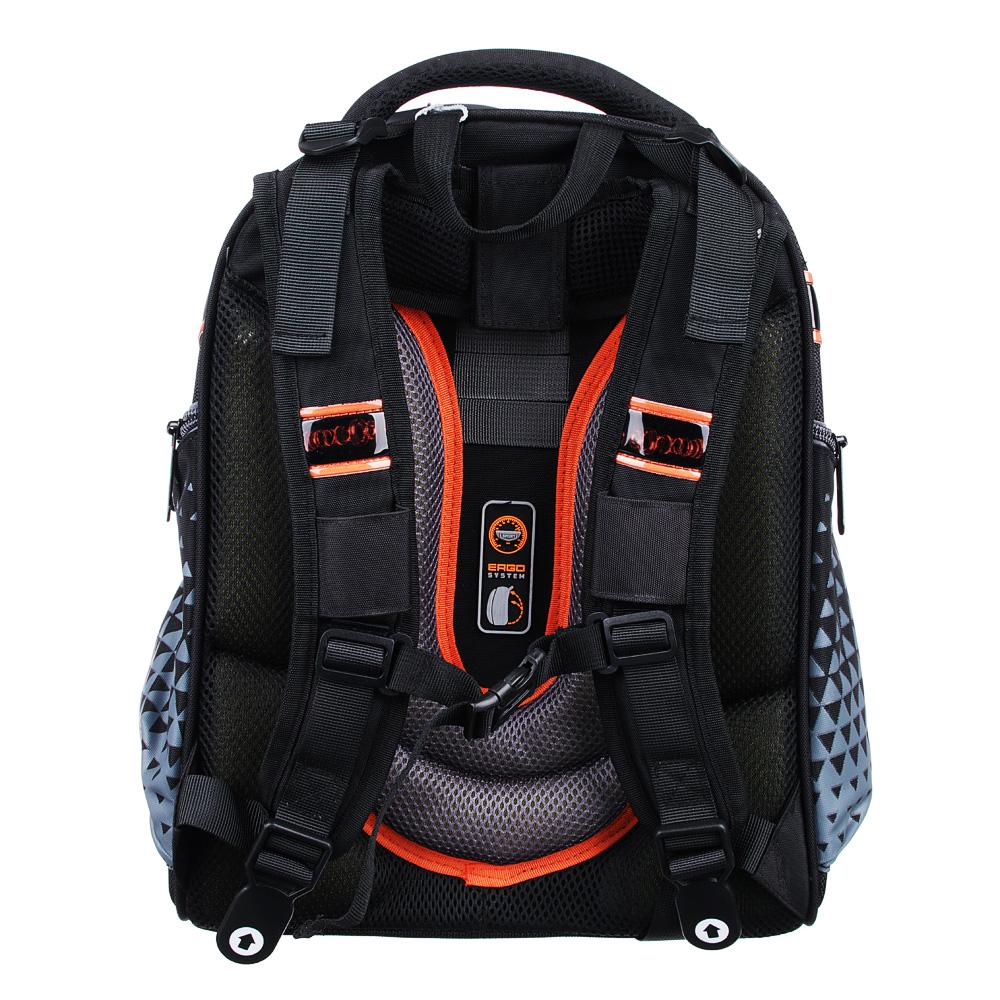 Рюкзак школьный Концепт кар 38x30x20 см, 2 отделения, эргономичная спинка, лямки регулируемые