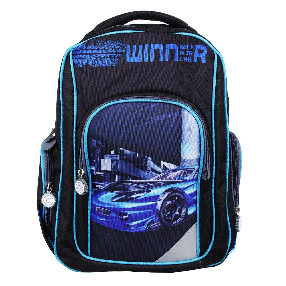 Рюкзак школьный Победитель 38x28x12 см, 1 отделение, уплотненная спинка и лямки