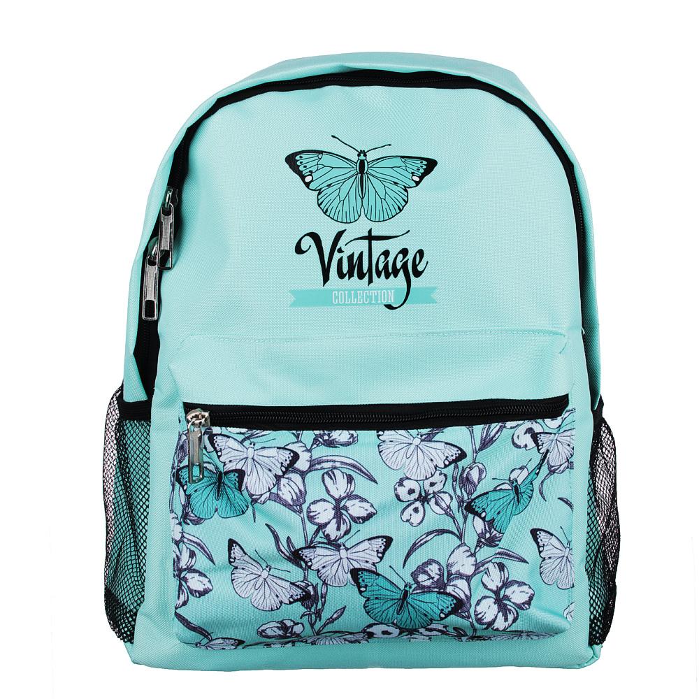 Рюкзак школьный Винтаж коллекшн 38x30x14 см, 1 отделение, уплотненные лямки