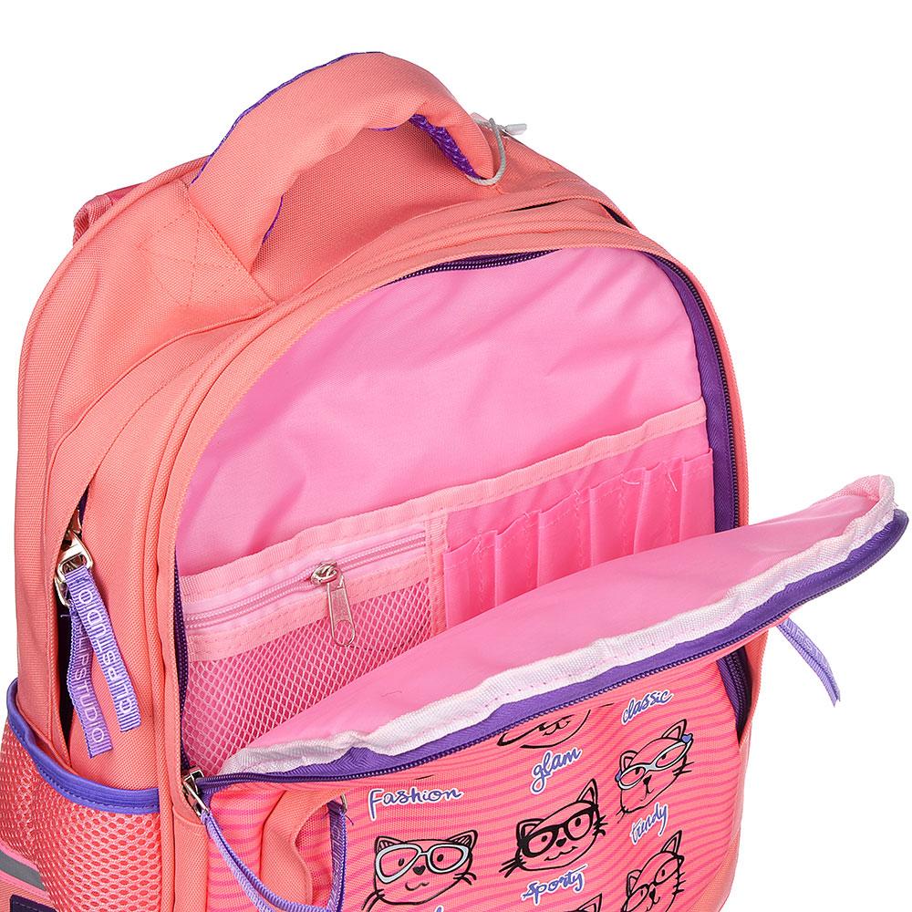 Клэвер кэтс Рюкзак школьный, улучшенный 41x31x18см, 2 отд., 3 кармана, уплотненная спинка и лямки