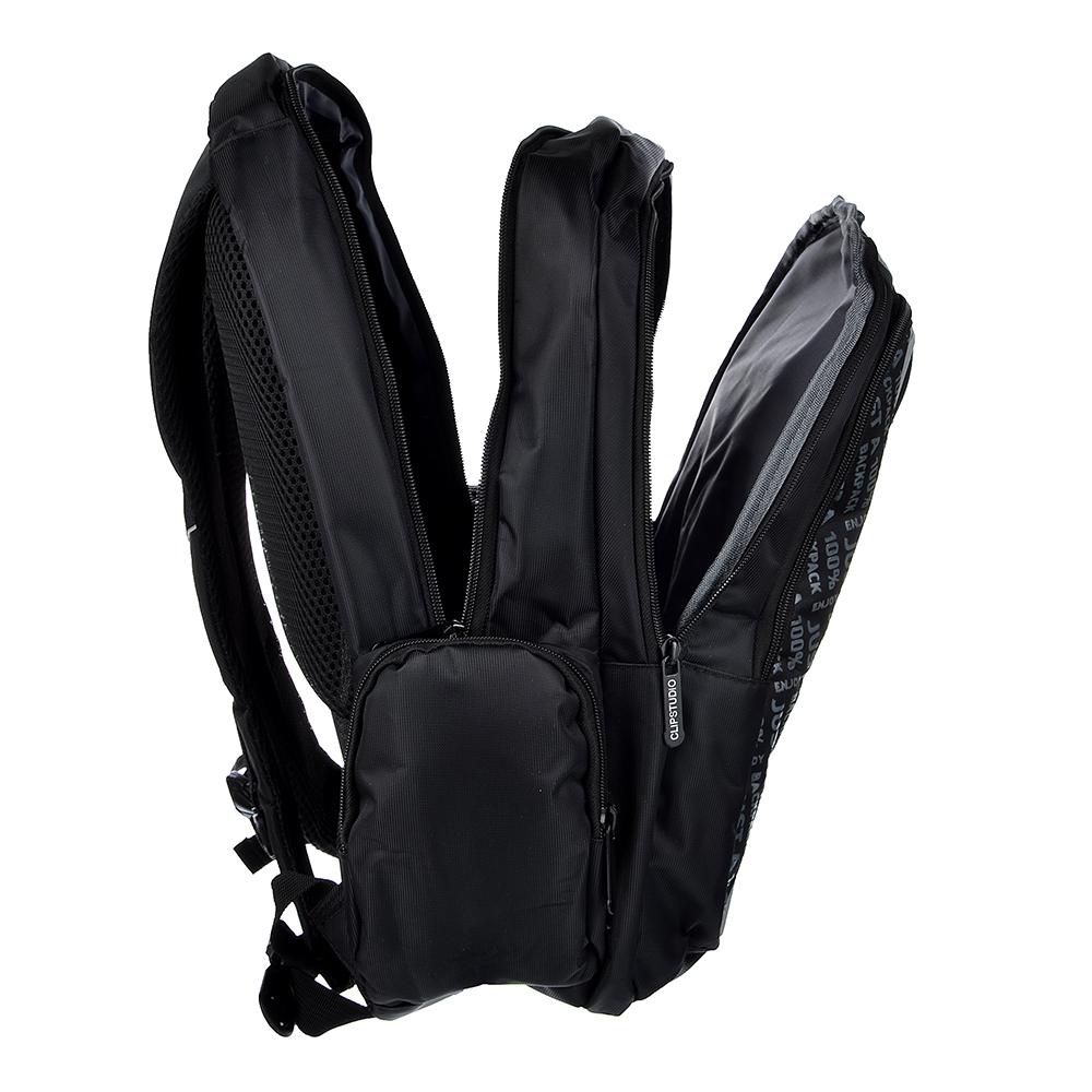 Шина Рюкзак подростковый, 42х30x22,5см, 3 отделения, 3 кармана, уплотненные спинка и лямки