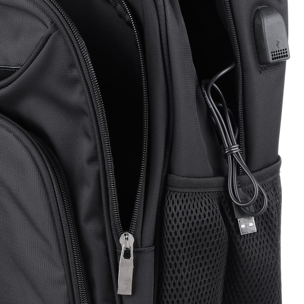 Рюкзак улучшенный 46x34x18 см, 3 отделения, уплотненные лямки, усиленная ручка, черный