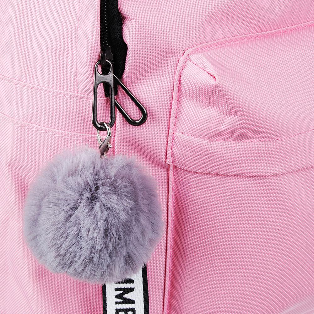 Рюкзак 40x30x20 см с брелком, 1 отделение, уплотненные лямки, сиреневый