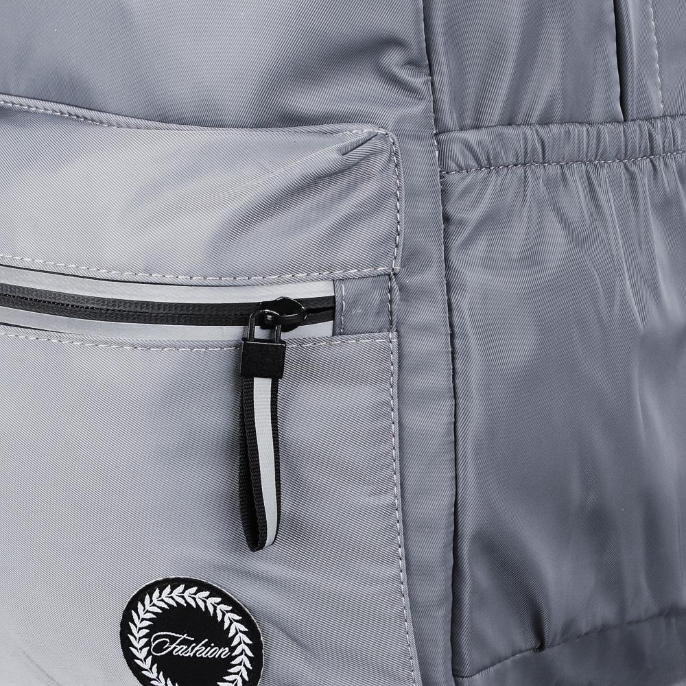 Рюкзак 40x28x16 см,1 отделение, уплотненные лямки, гладкий нейлон, серый