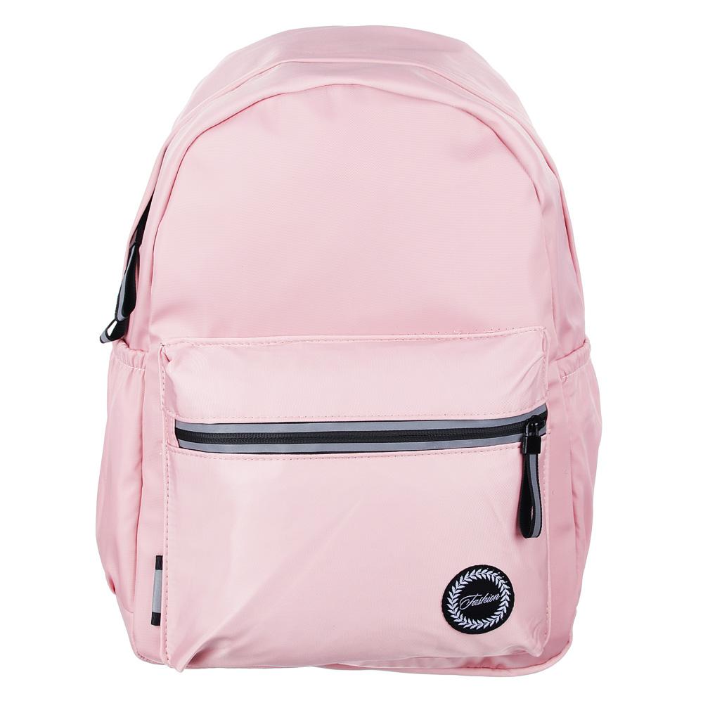 Рюкзак 40x28x16 см,1 отделение, уплотненные лямки, гладкий нейлон, розовый