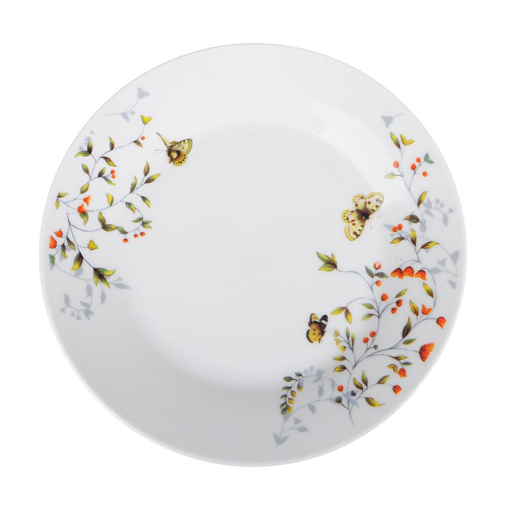 Бабочки Тарелка десертная, 19см, фарфор
