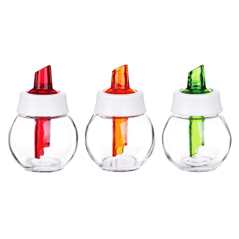 Сахарница с дозатором HEREVIN 180 мл, стекло, 3 цвета