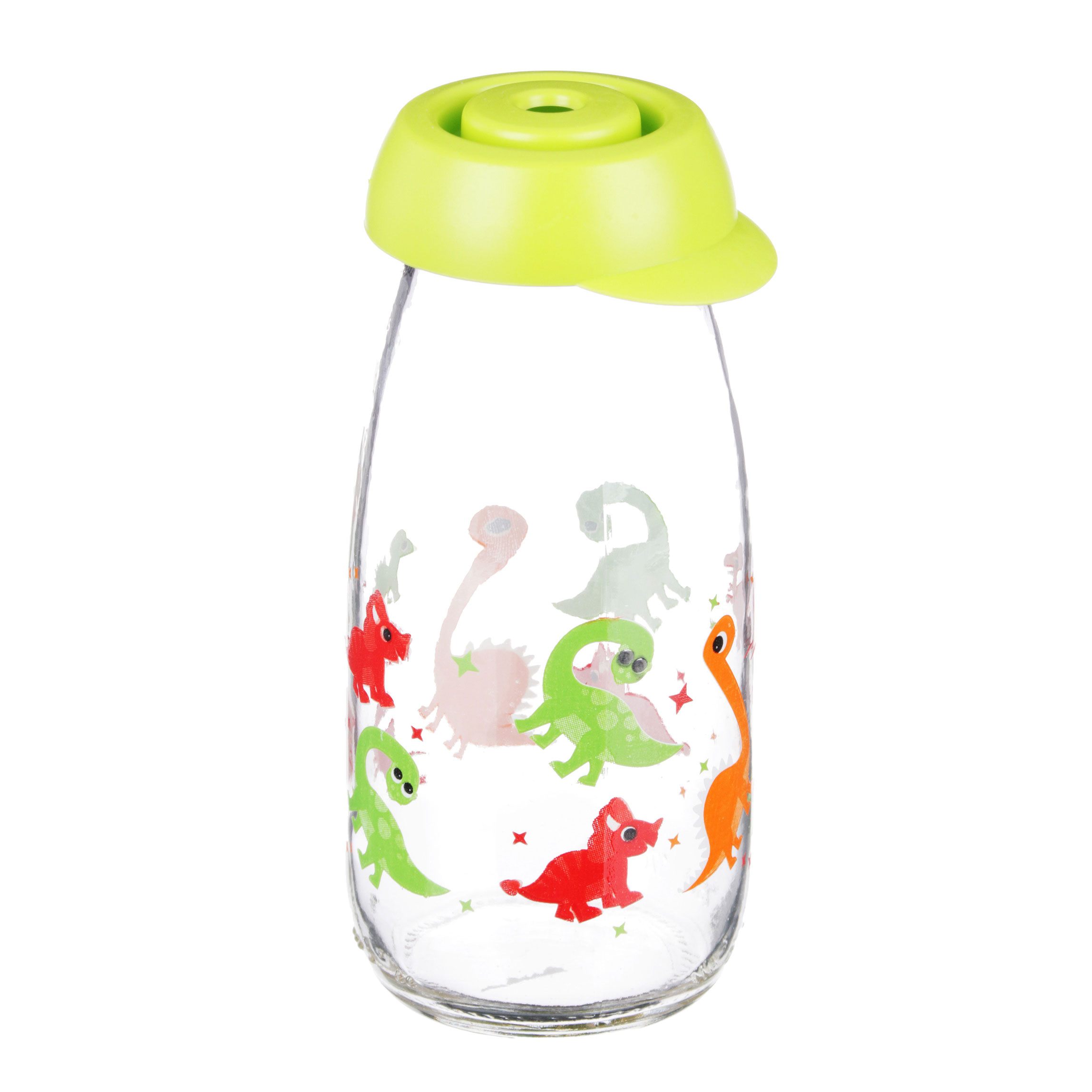 Бутылка с соломинкой HEREVIN 250 мл, стекло, 2 дизайна
