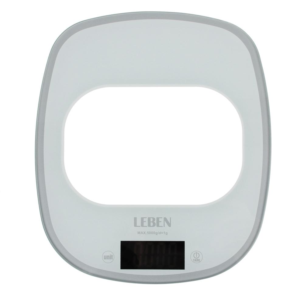 LEBEN Весы кухонные электронные, раздвижные, сенсор, макс.нагр.5кг(точн.измер.1гр), металл