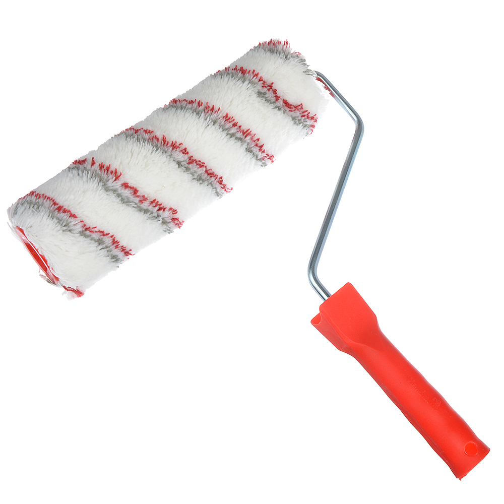"""HEADMAN Валик в сборе """"Мультиколор"""", 240мм, диаметр корпуса 48 мм,ворс 12 мм, ручка 8мм, пластик"""