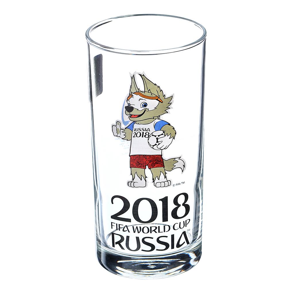 """ОСЗ FIFA Набор стаканов, 2шт, стекло, 270мл, высокие, """"Гео"""", """"Забивака ЧМ"""", N7071/0"""