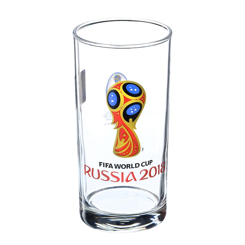 """ОСЗ FIFA Набо стаканов, 2шт, стекло, 270мл, высокие, """"Гео"""" """"Эмблема"""", N7064/0"""