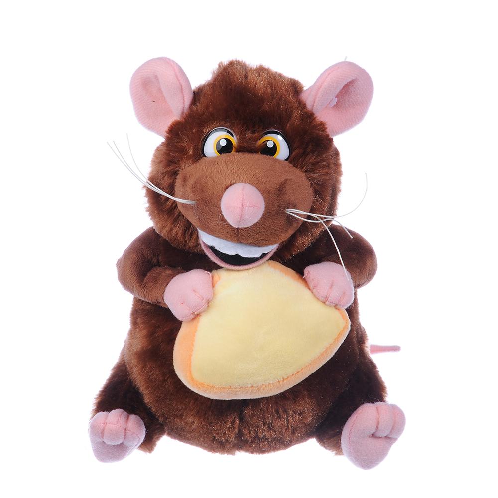 МЕШОК ПОДАРКОВ Мышь с сыром плюшевая, 19см, полиэстер, 1 дизайн