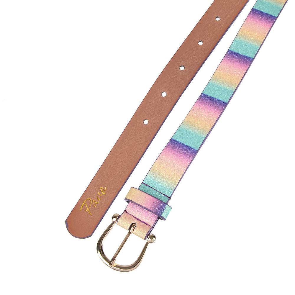 PAVO Ремень для девочек, ПУ, сплав, длина 70/80см, ширина 2,2см, 4 цвета, РД19-3