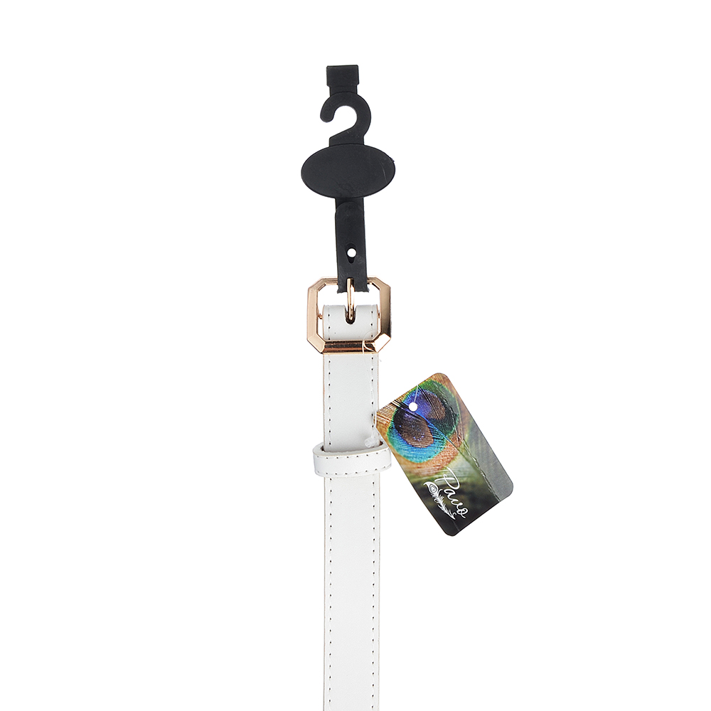 PAVO Ремень женский, ПУ,сплав, длина 105/115см, ширина 2,3см, 2 дизайна, РЖ19-1