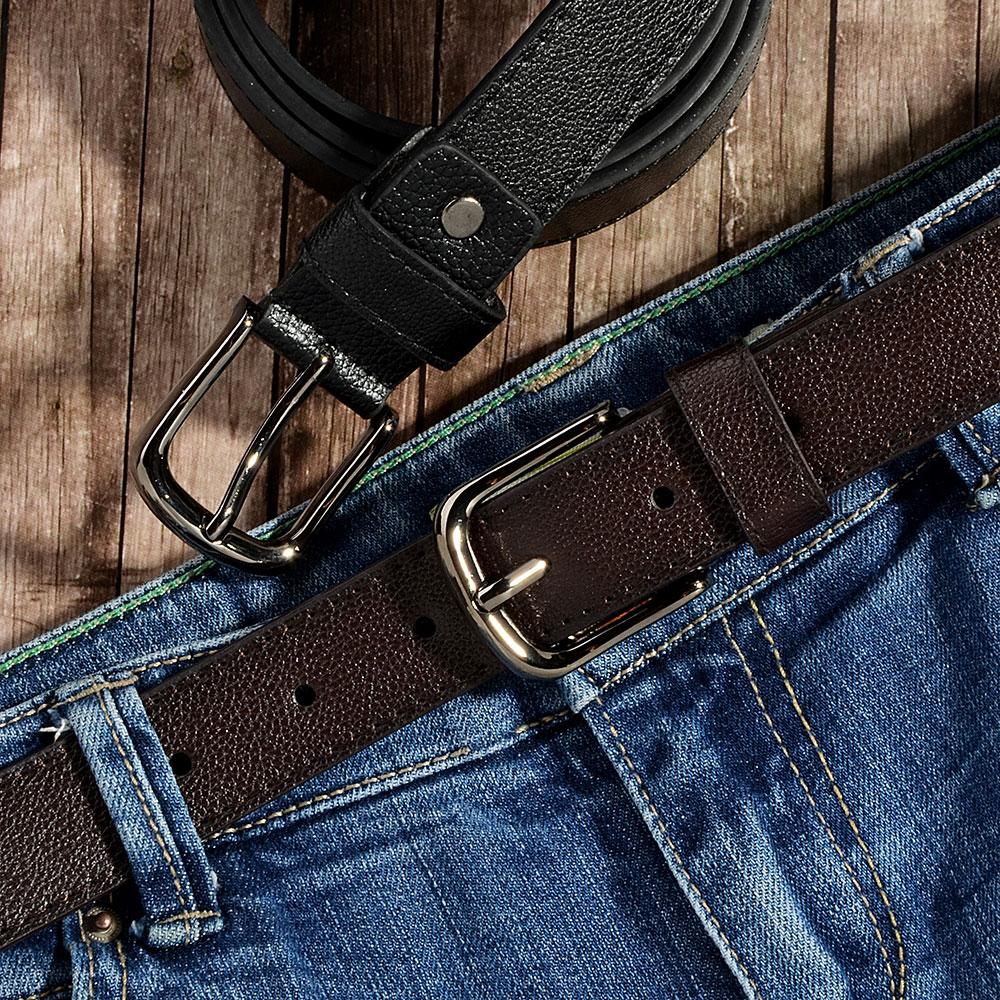 PAVO Ремень мужской, ПУ, сплав, длина 120/130см, ширина 2,8см, 2 цвета, РМ19-1