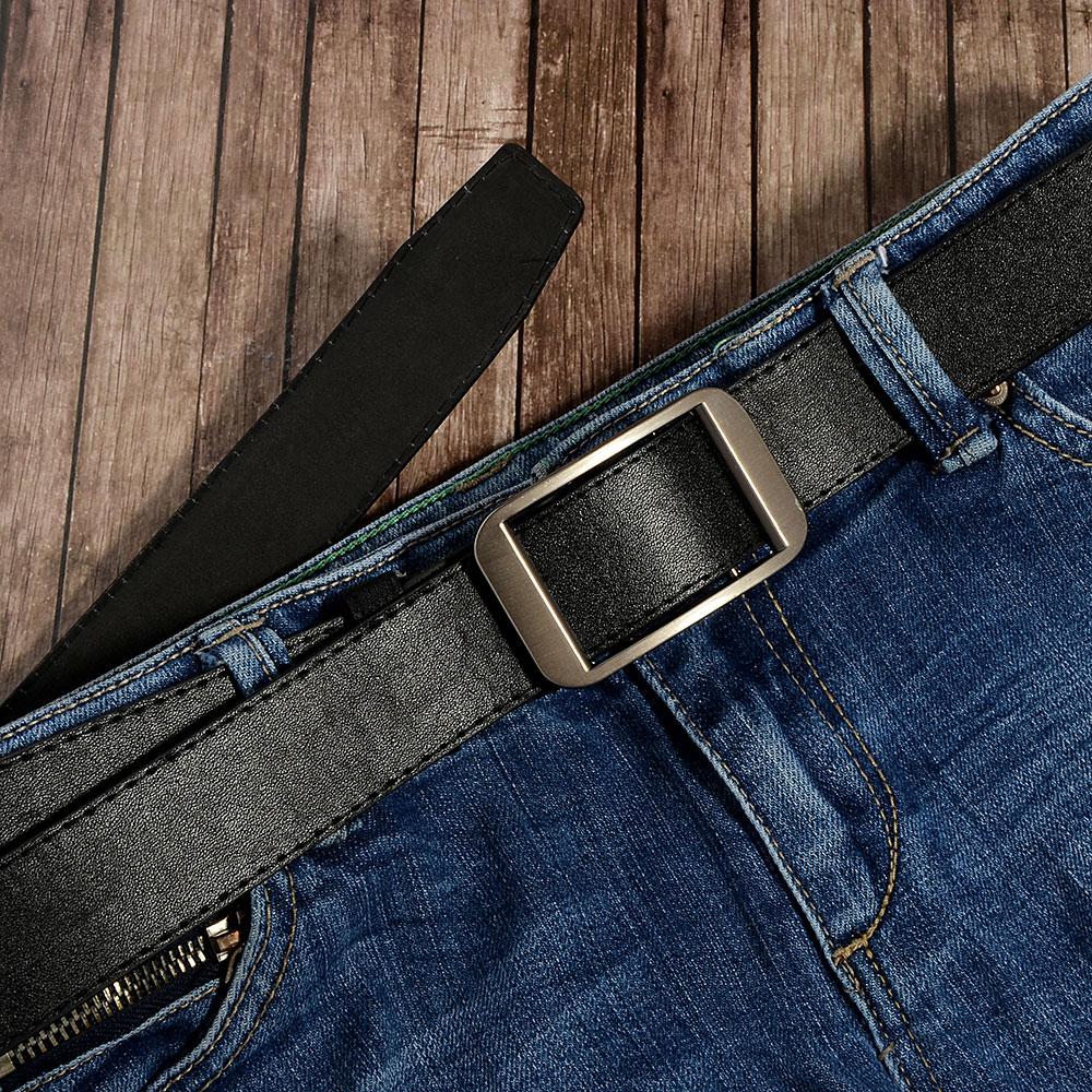 PAVO Ремень мужской, ПУ, сплав, длина 120/130см, ширина 3,2см, черный, РМ19-2