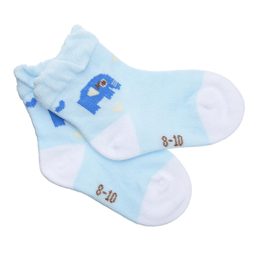 Носки детские, 80% хлопок, 15% полиамид, 5% спандекс, р-ры 8-10/10-12см, 6 цветов, НД19-2