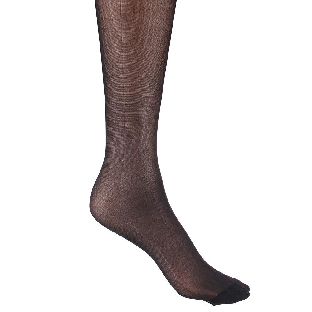 Колготки капроновые женские, 20 DEN полупрозрачные с шортиками, размер 1/2,3,4, цвет черный