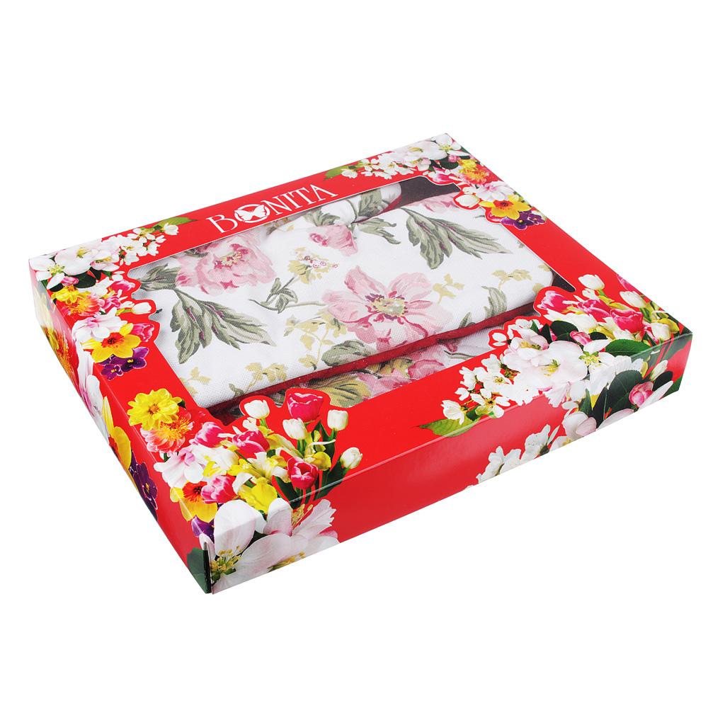 Подарочный набор Bonita 3 пр: полотенце 44х60см, рукавица 17х28см, прихватка 18х23см, 100% хлопок