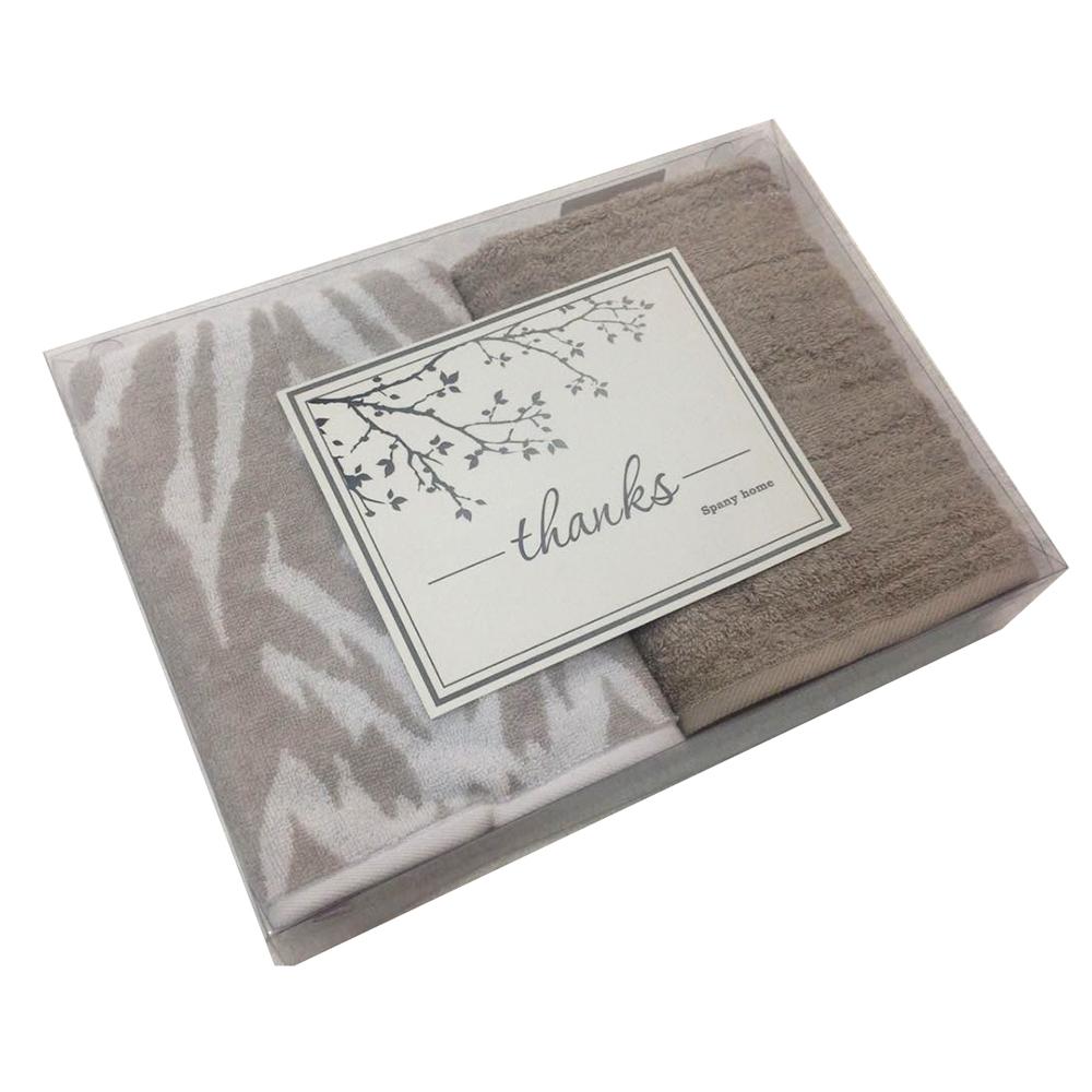 Набор из 2-х полотенец 50х90 (2шт) SPANY INTERIO в подарочной коробке, 100% хлопок