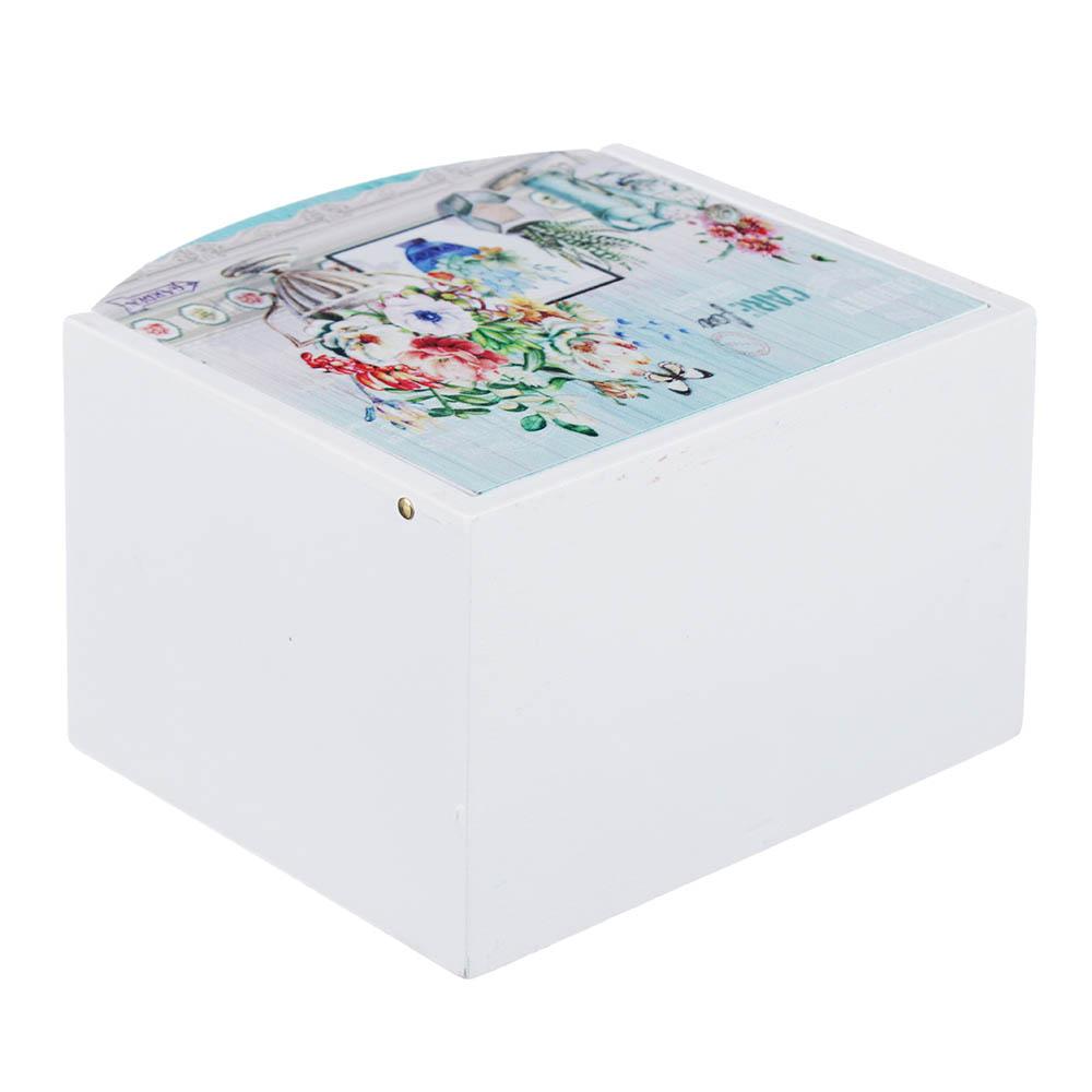 "Шкатулка для украшений ""Ваза с цветами"", 11х10х7 см, МДФ"