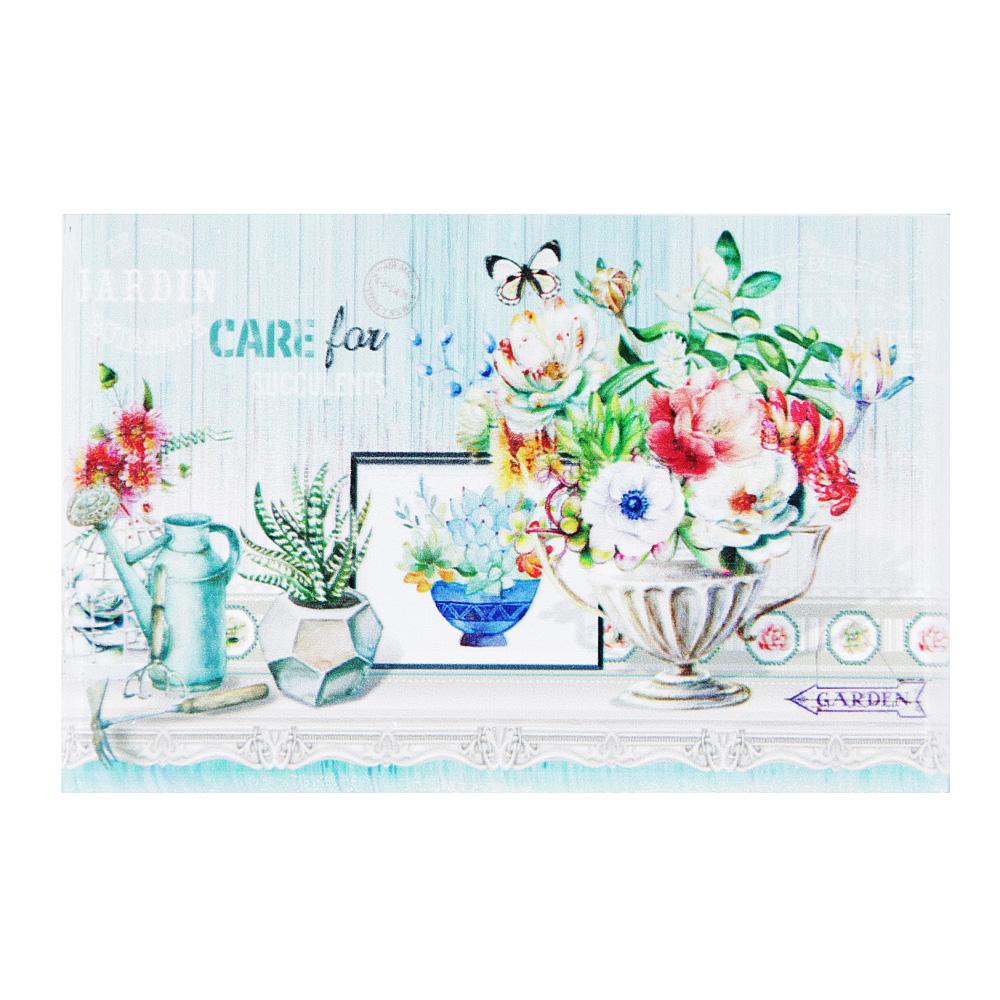 "Шкатулка для украшений ""Ваза с цветами"", 18,5х7,5х11,5 , МДФ"