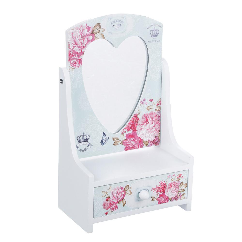 """Шкатулка для украшений """"Розовый сад"""", 13,5х7х22 см, МДФ"""