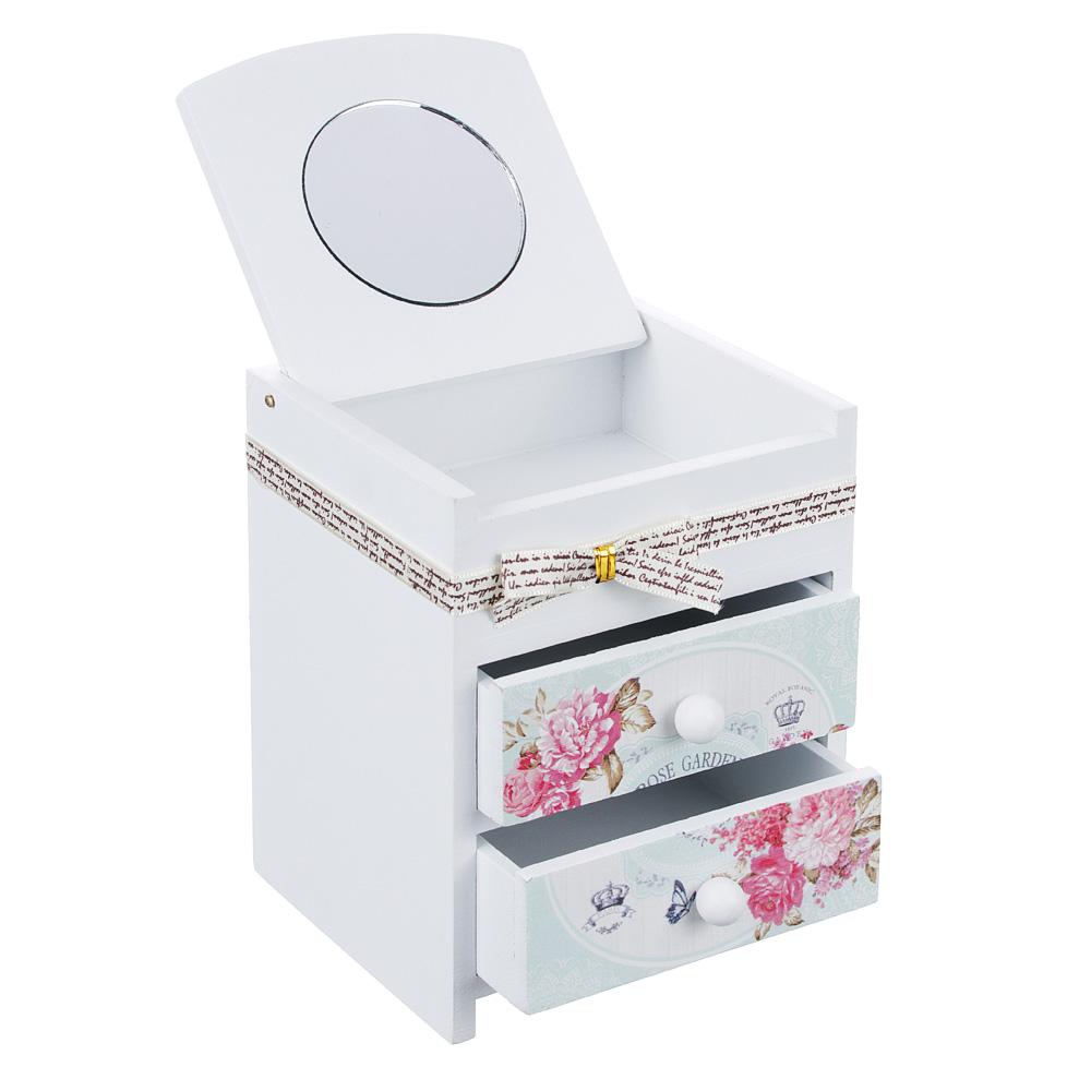 """Шкатулка для украшений """"Розовый сад"""", 11х10х14 см, МДФ"""