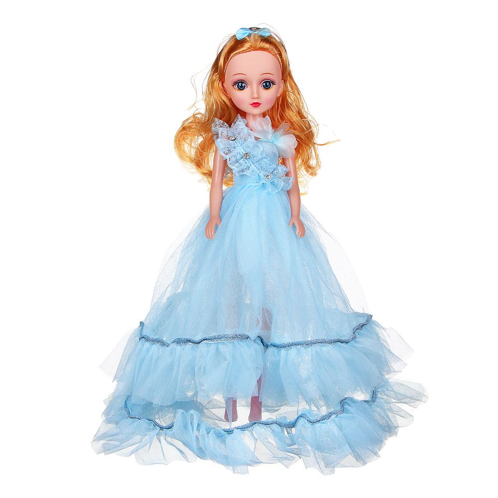 ИГРОЛЕНД Кукла классическая в пышном платье, 35-45см, пластик, полиэстер, 4-8 цветов