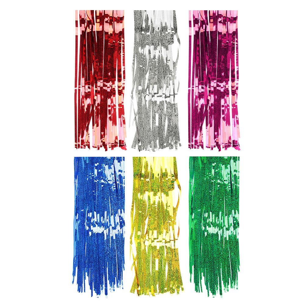 Дождик голографический СНОУ БУМ 200х100 см, ПВХ, 6 цветов